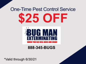 One Time Pest Control $25