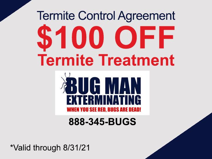 $100 OFF Termite Control