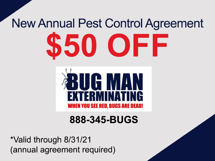 $50 OFF Pest Control Agreement
