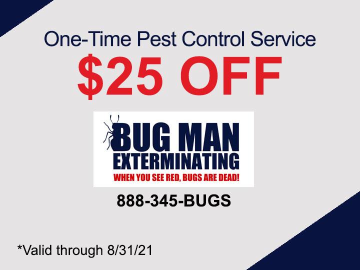 $25 OFF Pest Control Service